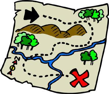 Kreslená mapa pokladu